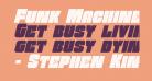 Funk Machine Italic