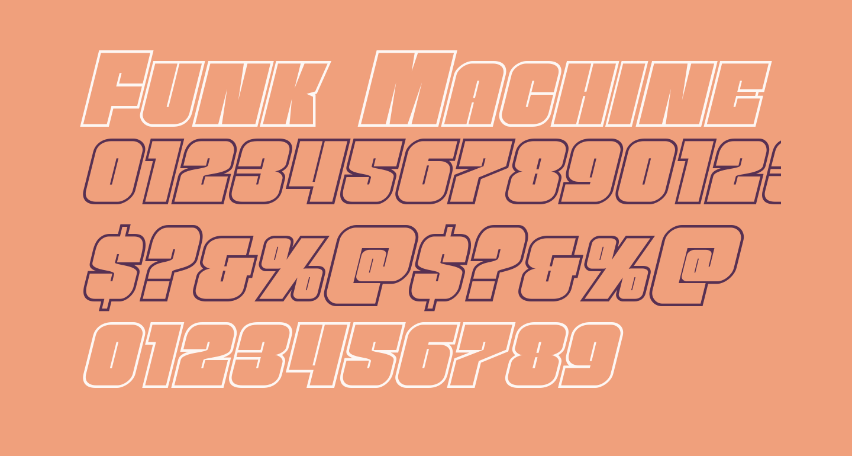 Funk Machine Outline Italic
