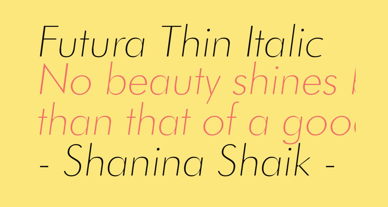 Futura Thin Italic