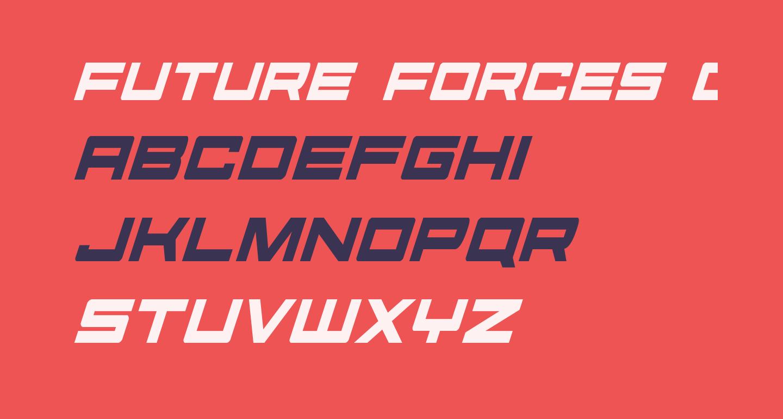 Future Forces Condensed Italic