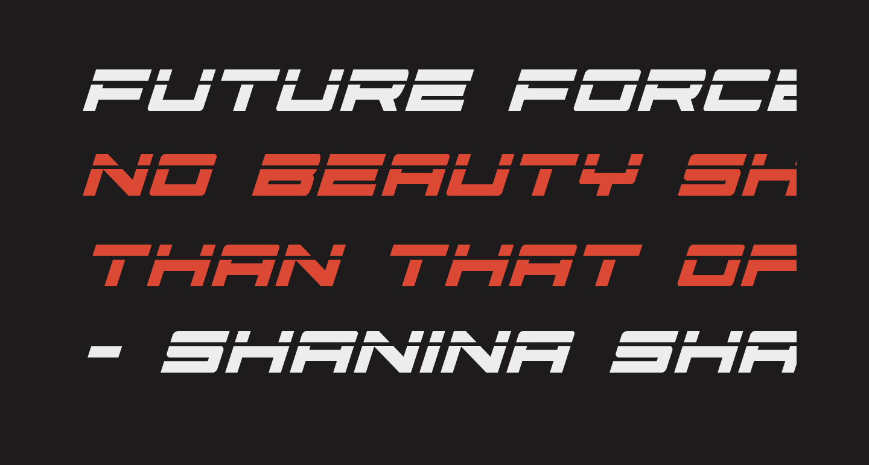 Future Forces Laser Italic