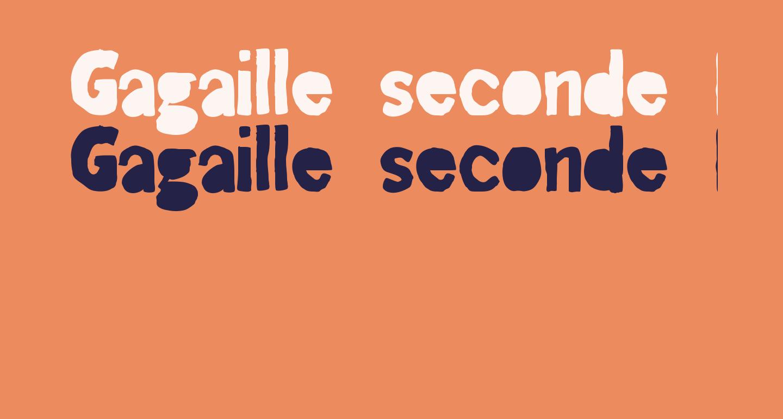 Gagaille seconde Regular