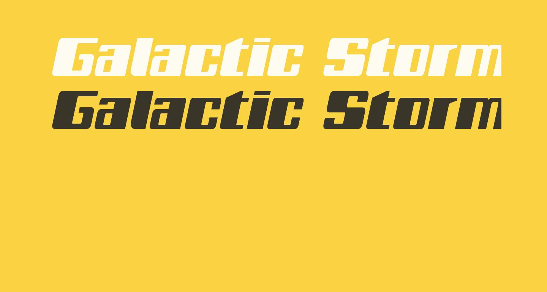 Galactic Storm Italic