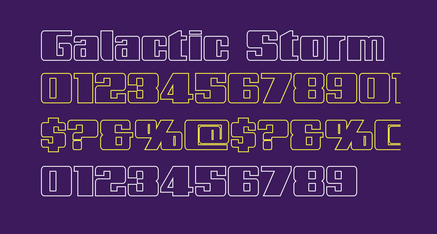 Galactic Storm Outline