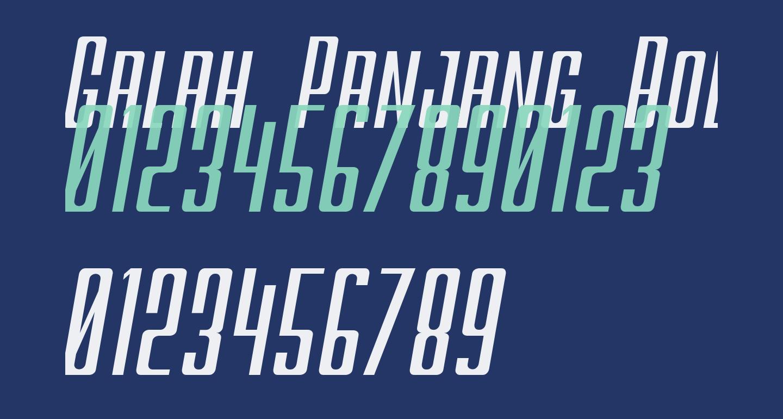 Galah Panjang Bold Italic