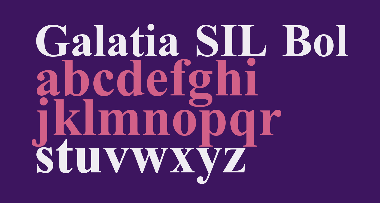 Galatia SIL Bold
