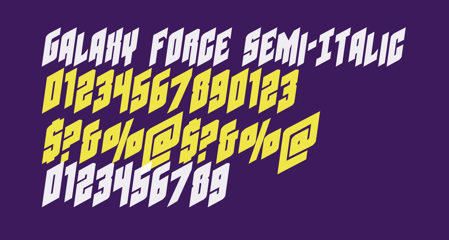 Galaxy Force Semi-Italic