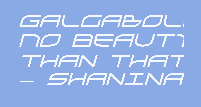 GalgaBold Italic