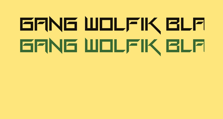 Gang Wolfik Blade Regular
