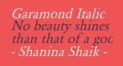 Garamond Italic