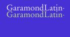 GaramondLatin-Roman