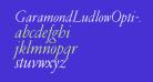 GaramondLudlowOpti-Italic