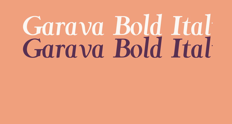 Garava Bold Italic