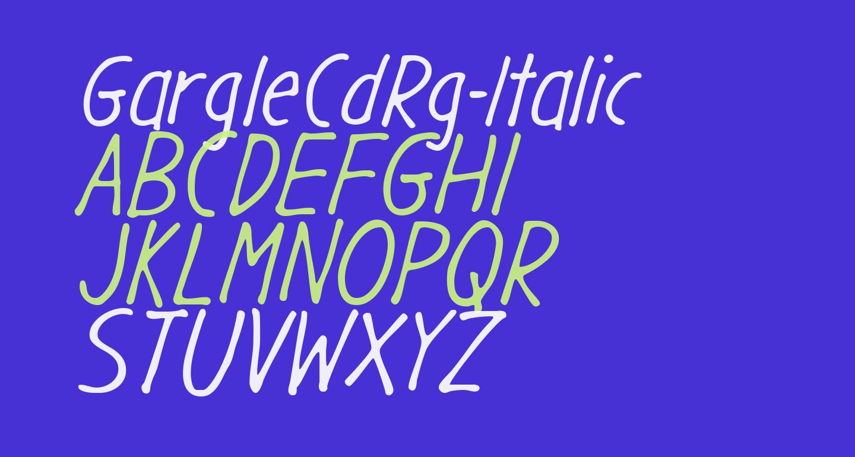 GargleCdRg-Italic