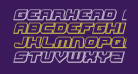 Gearhead Engraved Italic
