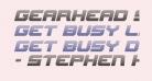 Gearhead Scanlines Italic