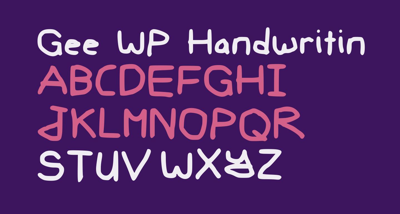 Gee WP Handwriting Regular