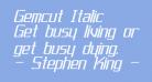 Gemcut Italic
