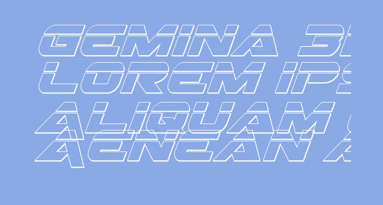 Gemina 3D Laser Italic