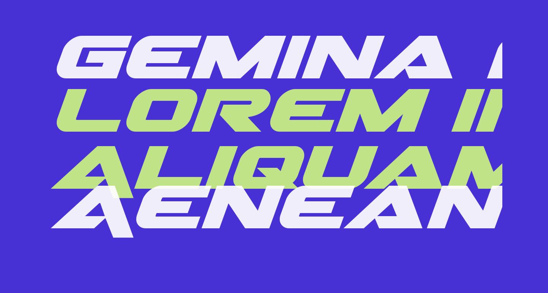 Gemina Expanded Italic
