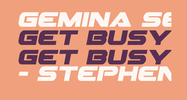 Gemina Semi-Italic