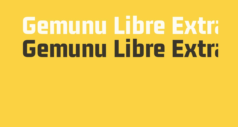Gemunu Libre ExtraBold