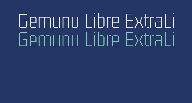 Gemunu Libre ExtraLight
