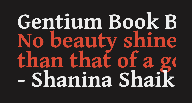 Gentium Book Basic Bold
