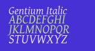 Gentium Italic