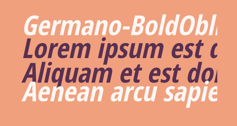 Germano-BoldOblique
