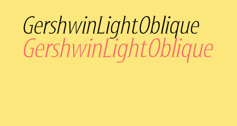 GershwinLightOblique