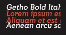 Getho Bold Italic