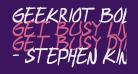 geekriot Bold Italic