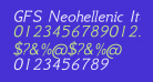 GFS Neohellenic Italic
