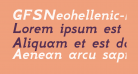 GFSNeohellenic-BoldItalic