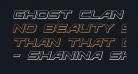 Ghost Clan 3D Italic