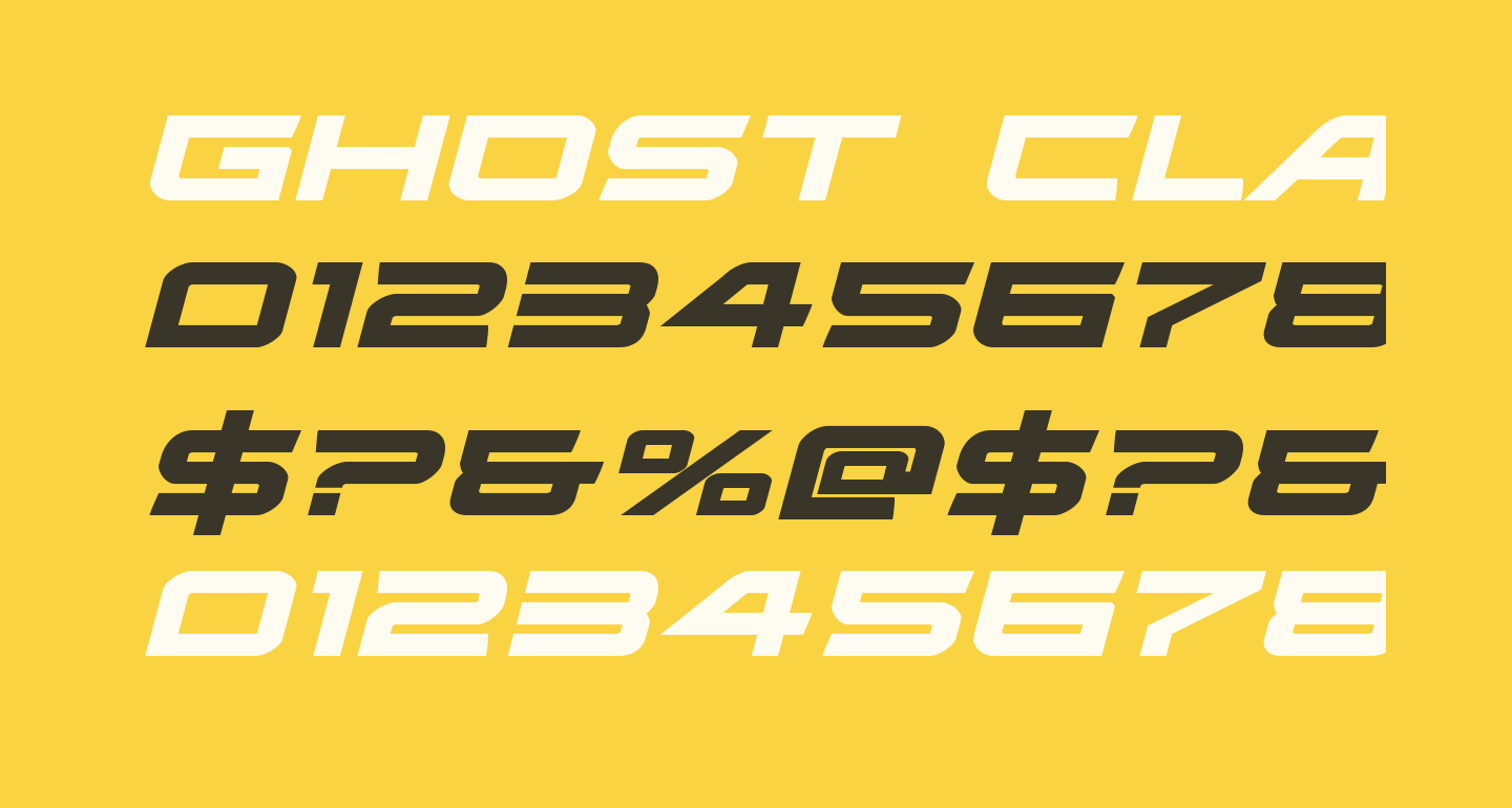 Ghost Clan Expanded Italic