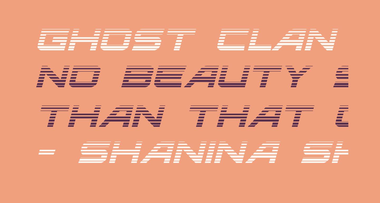 Ghost Clan Gradient Italic