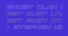 Ghost Clan Outline Italic