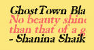 GhostTown BlackItalic
