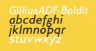GilliusADF-BoldItalic