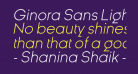 Ginora Sans Light Oblique