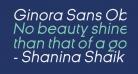 Ginora Sans Oblique