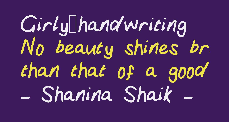 Girly_handwriting