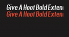 Give A Hoot Bold Extended Oblique