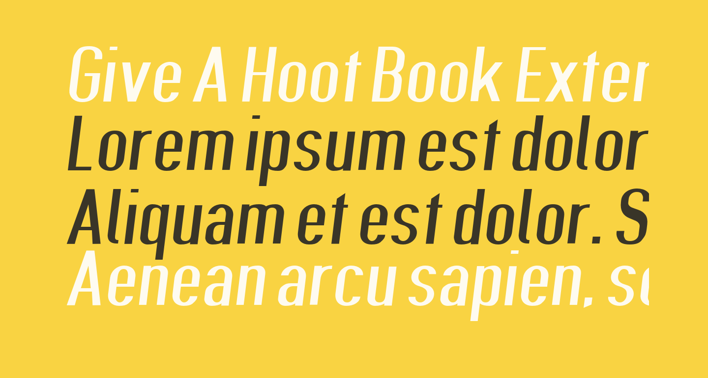 Give A Hoot Book Extended Oblique