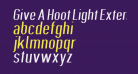 Give A Hoot Light Extended Oblique
