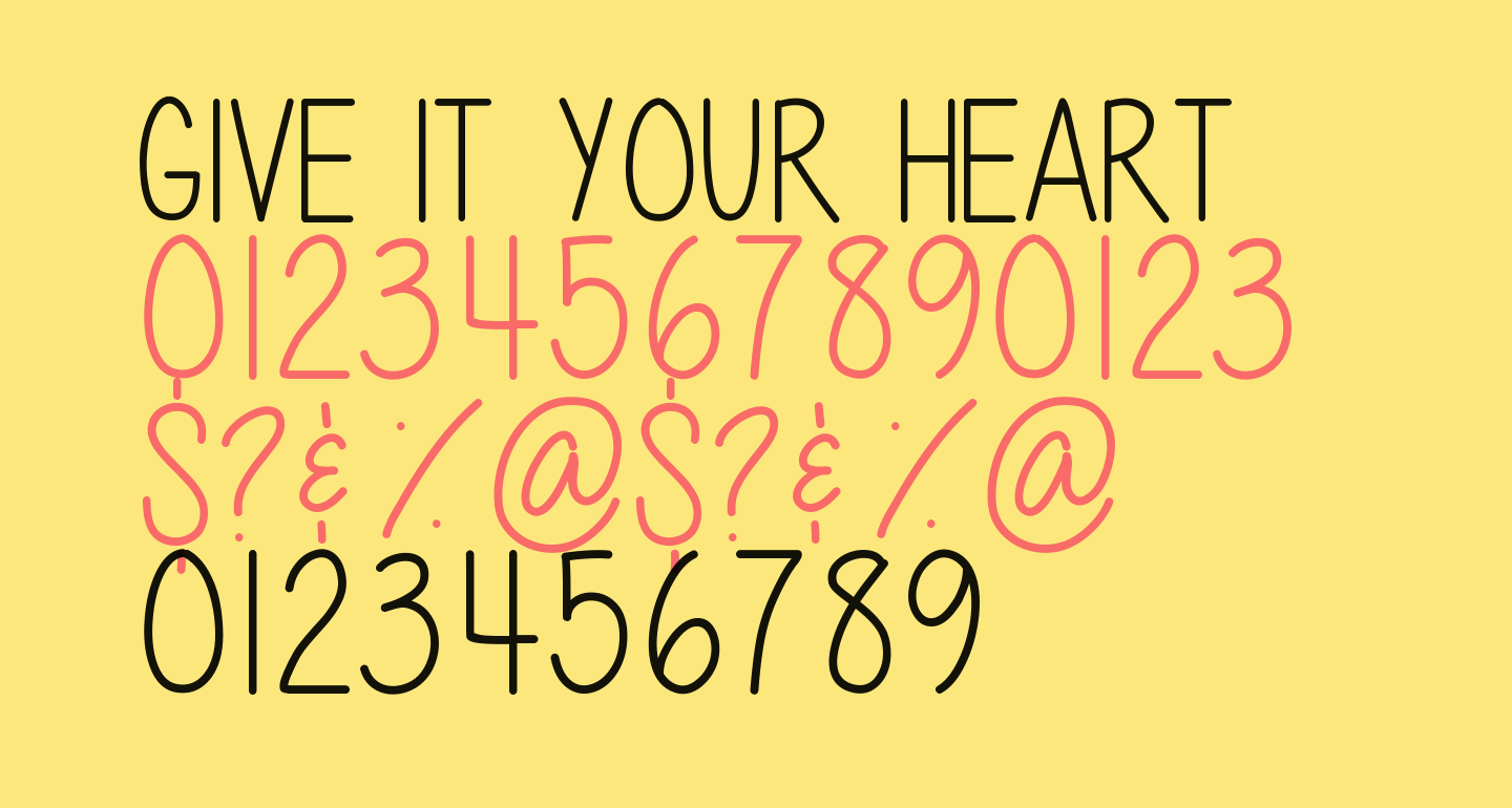Give It Your Heart