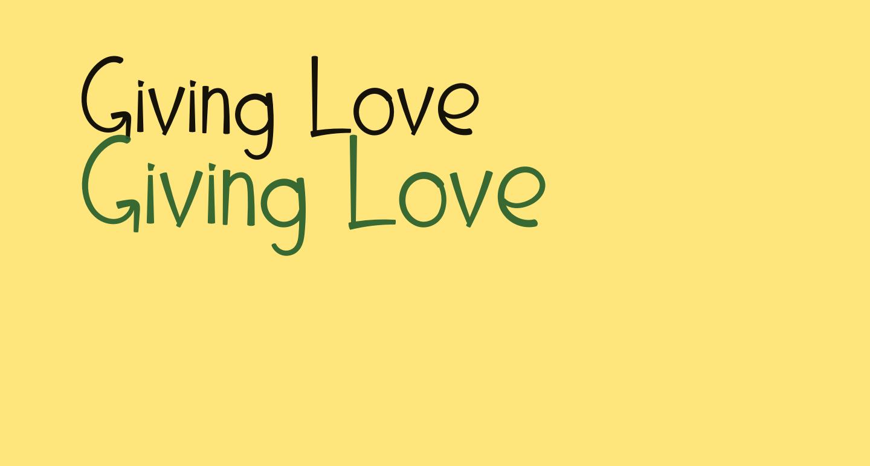 Giving Love