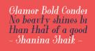 Glamor Bold Condensed Italic